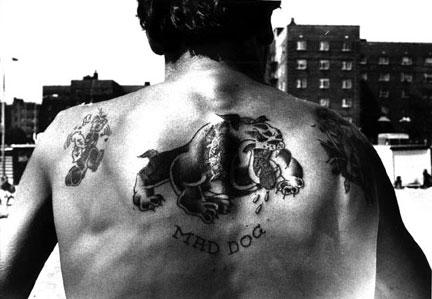 Mad Dog Tattoo Coney Island 1978 (ca) Vintage gelatin silver print